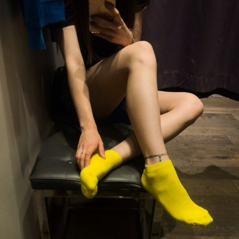 Носки желтые базовые короткие Sunny Focks