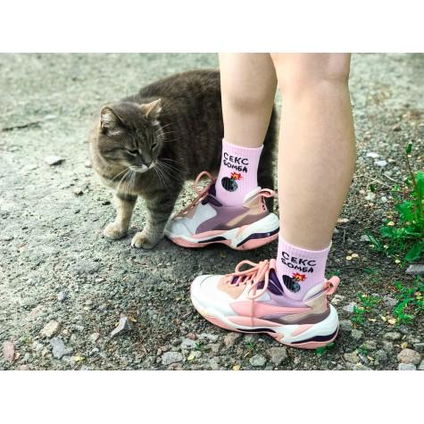 """Шкарпетки рожеві """"Секс бомба"""" Sunny Focks"""