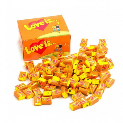 "Блок жувальних гумок ""Love is..."" Апельсин - Ананас 100 шт."