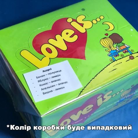 """Блок жувальних гумок """"Love is..."""" Асорті з 5 смаків 100 шт."""