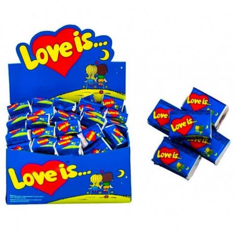 """Блок жувальних гумок """"Love is..."""" Банан - Полуниця 100 шт."""