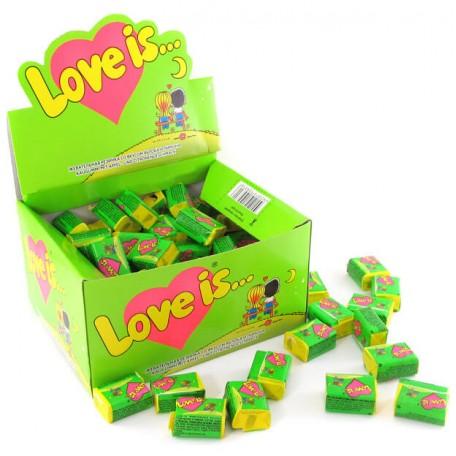 """Блок жувальних гумок """"Love is..."""" Яблуко - Лимон 100 шт."""